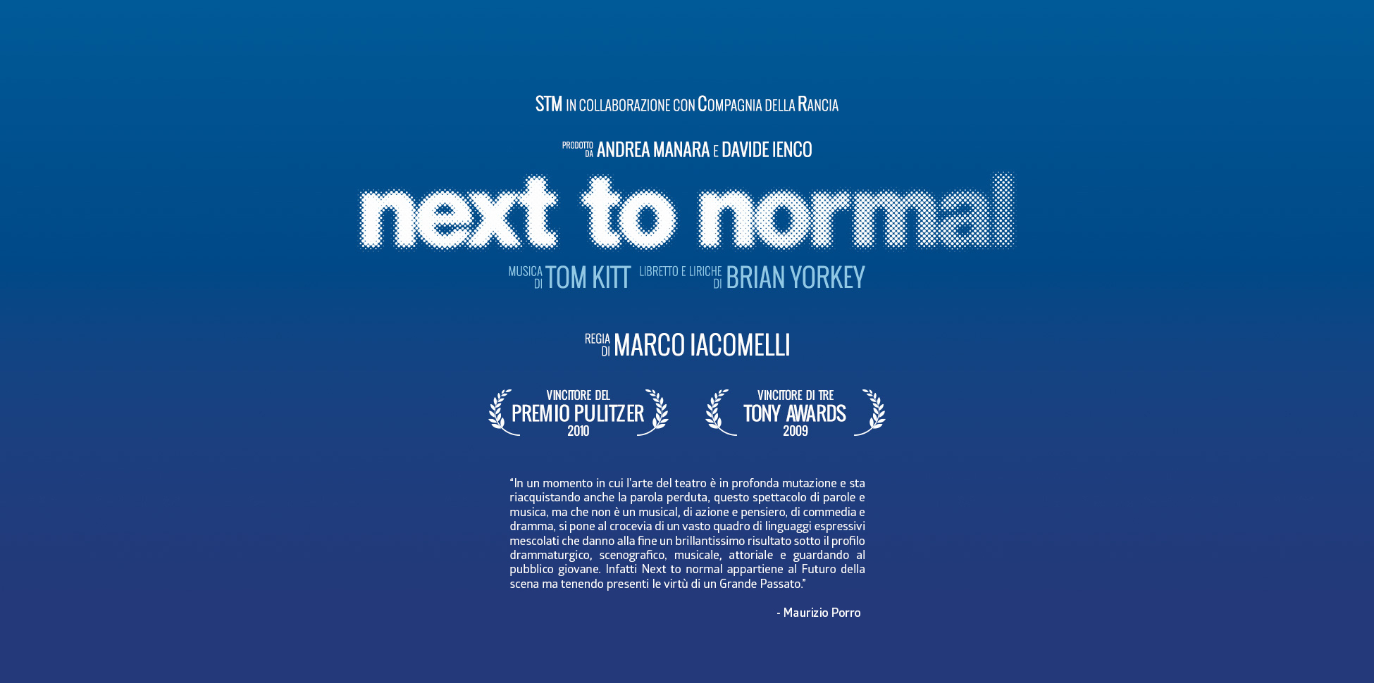 Next to Normal Italia